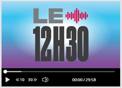 "Radio RTS – Emission ""L'invitée du 12h30"" – 11.12.2018"