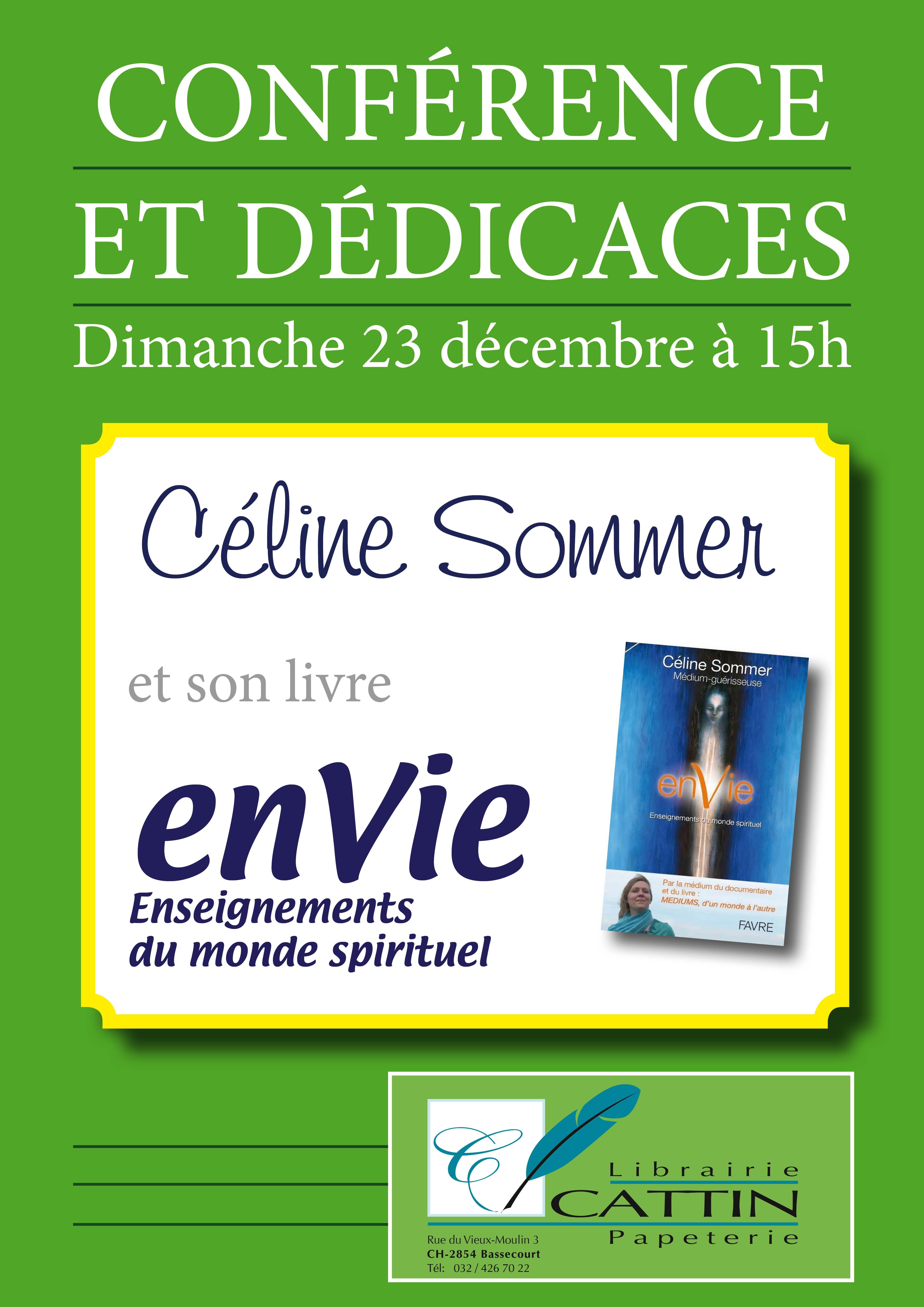 Conférence et dédicaces à la librairie Cattin, Bassecourt (JU) – dimanche 23 décembre dès 15h00