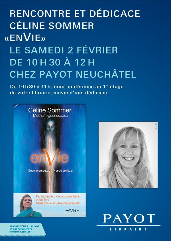 Dédicaces et conférence à la librairie Payot, Neuchâtel – samedi 2 février de 10h30 à 12h00